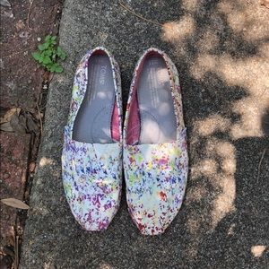 TOMS Paint Splatter Shoes Women's 8.5